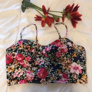 Say What floral bralette/crop top